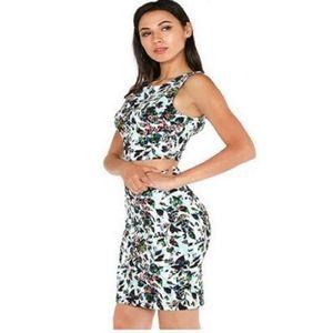 NWT Floral Skirt Set